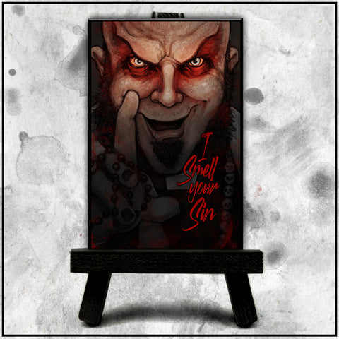 Father Evil - I Smell Your Sin II Canvas
