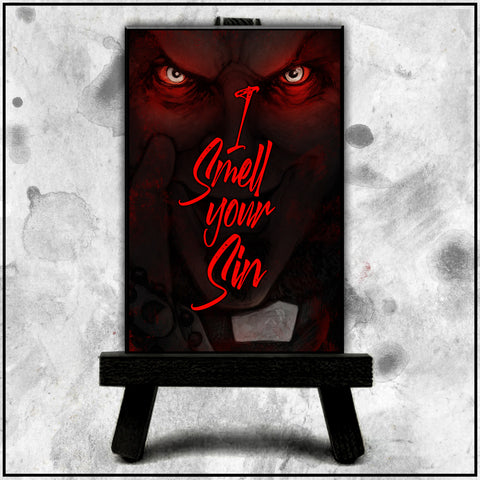 Father Evil - I Smell Your Sin Canvas