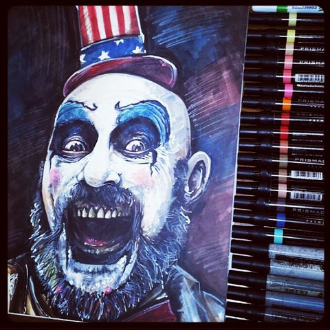 Captain Spaulding - Original Marker Sketch