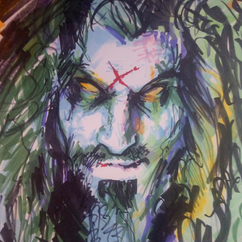 Rob Zombie - Original Marker Sketch