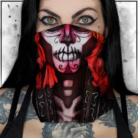 Nicole Chilelli - Day of the Dead II Neck Gaiter