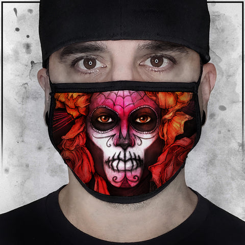 Nicole Chilelli - Day of the Dead Face Mask