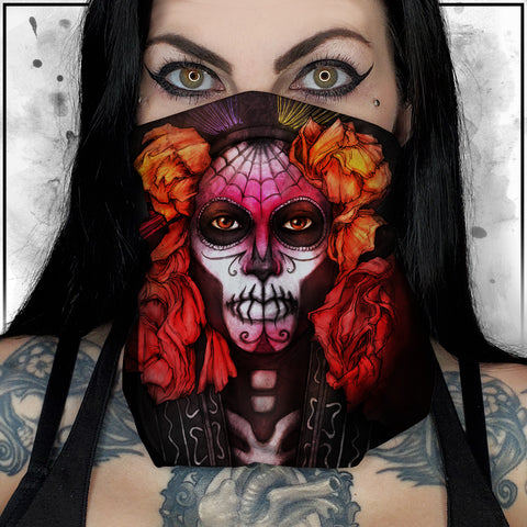 Nicole Chilelli - Day of the Dead Neck Gaiter