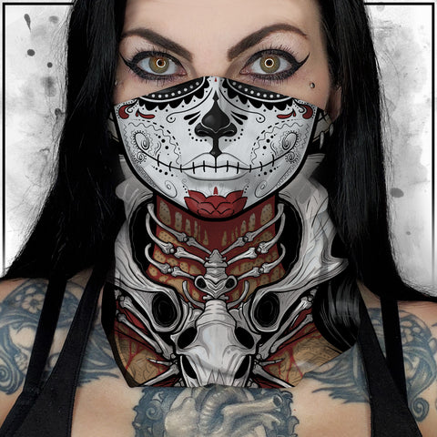Terry Huddleston - Bone Queen Neck Gaiter