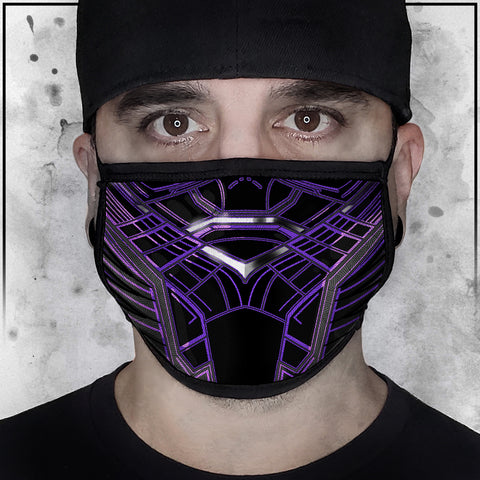 Terry Huddleston - Purple Panther Face Mask