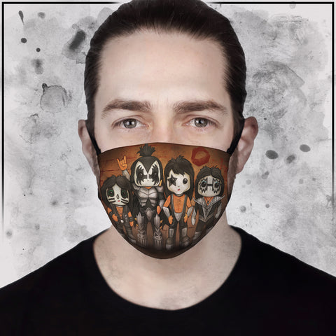 Kiss Line-Up Face Mask