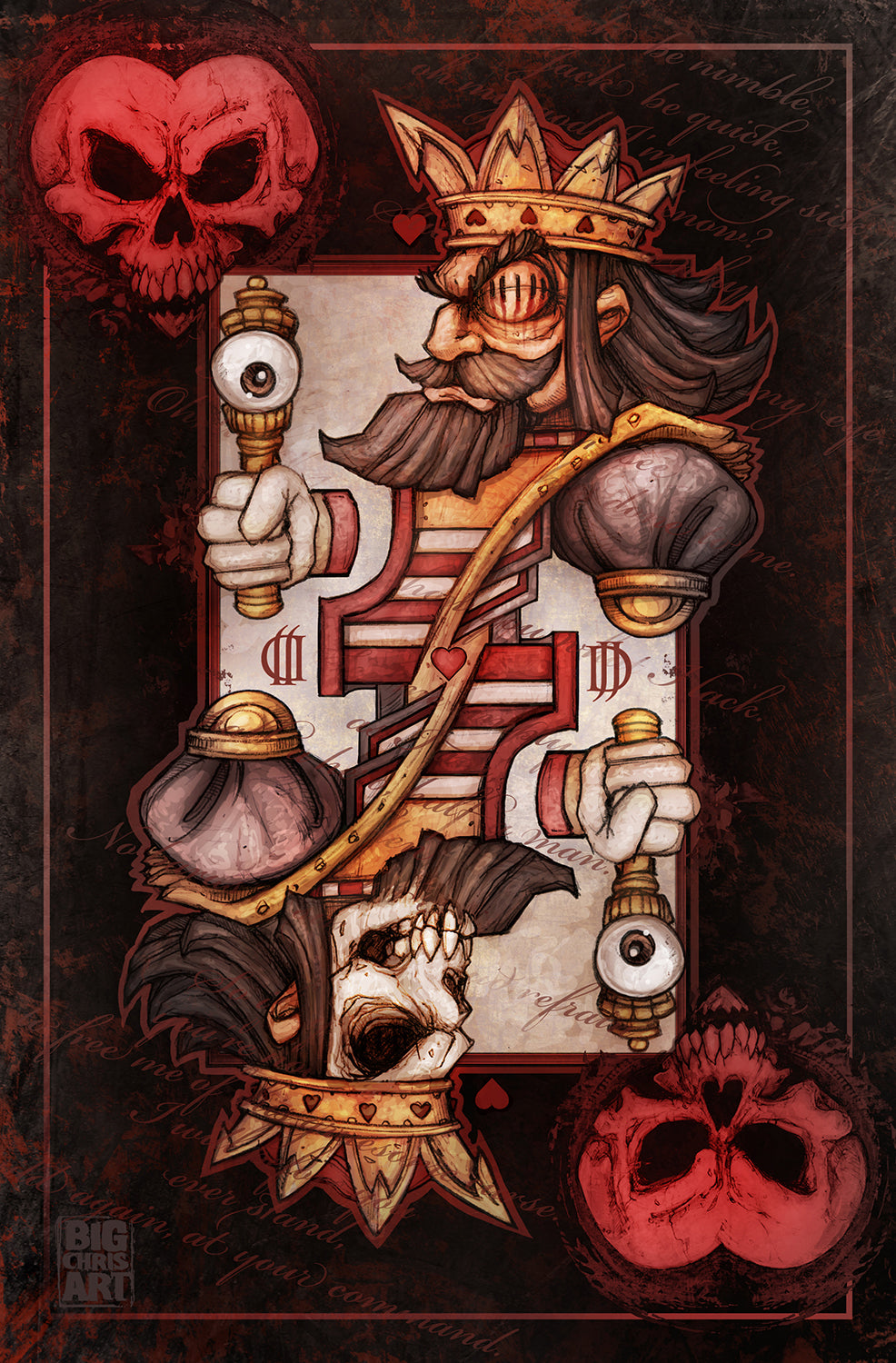 Bad Ace - Jack of Hearts - Canvas
