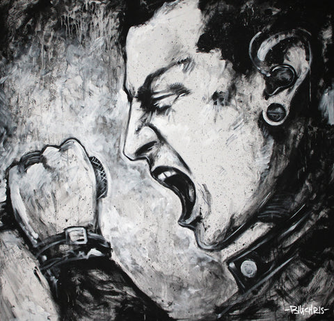 "Chester Bennington Original Painting - 40""x40"""