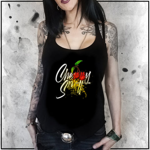 Ladies | Cult Of Fools- Cherry Snott Logo | Triblend Racerback Tank