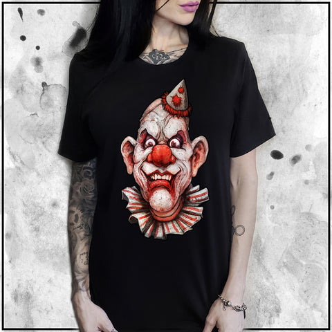 Ladies | Cult Of Fools- Creepy The Clown | Oversized Tee