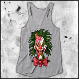 Ladies | Cult Of Fools- I Scream | Triblend Racerback Tank