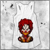 Ladies | Cult Of Fools- Ronald McDeath | Triblend Racerback Tank