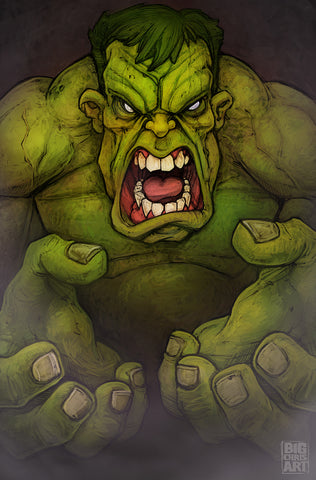 The Incredible Hulk- 11x17 Print