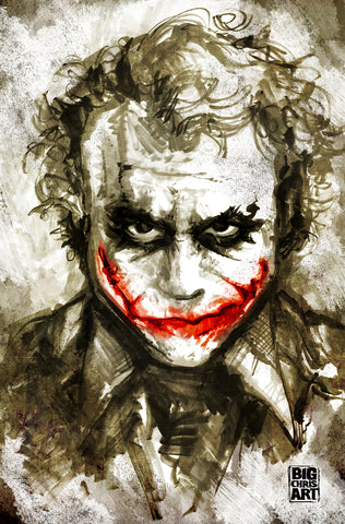 The Joker - Heath Ledger's - 11x17 Print