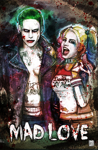 The Joker - Mad Love- 11x17 Print