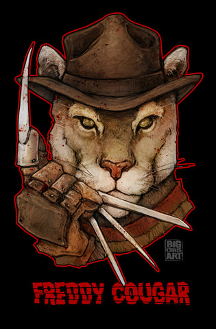 Cuddly Killers | Freddy Cougar | 11x17 Print