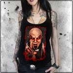 Ladies | Father Evil - Portriat | Triblend Racerback Tank