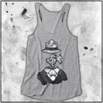 Ladies | Big Chris Art Markers- Fish for Brains | Triblend Racerback Tank