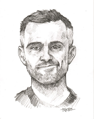 Original Art | Gary Vee | Original Pencil Drawing