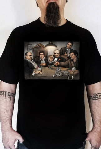 Gangster's Playing Poker T-Shirt