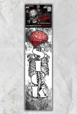 Twisted Insane Brain Sick II Socks