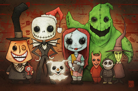 Nightmare Before Christmas Line-Up - 11x17 Print
