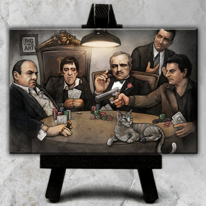 Gangster's Playing Poker Canvas