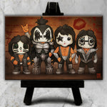 Kiss Line-Up Canvas