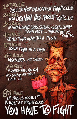 Fight Club - Rules 11x17 Print
