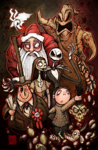 Nightmare Before Christmas Cast - 11x17 Print