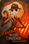 Nightmare Before Christmas on Elm Street - 11x17 Print