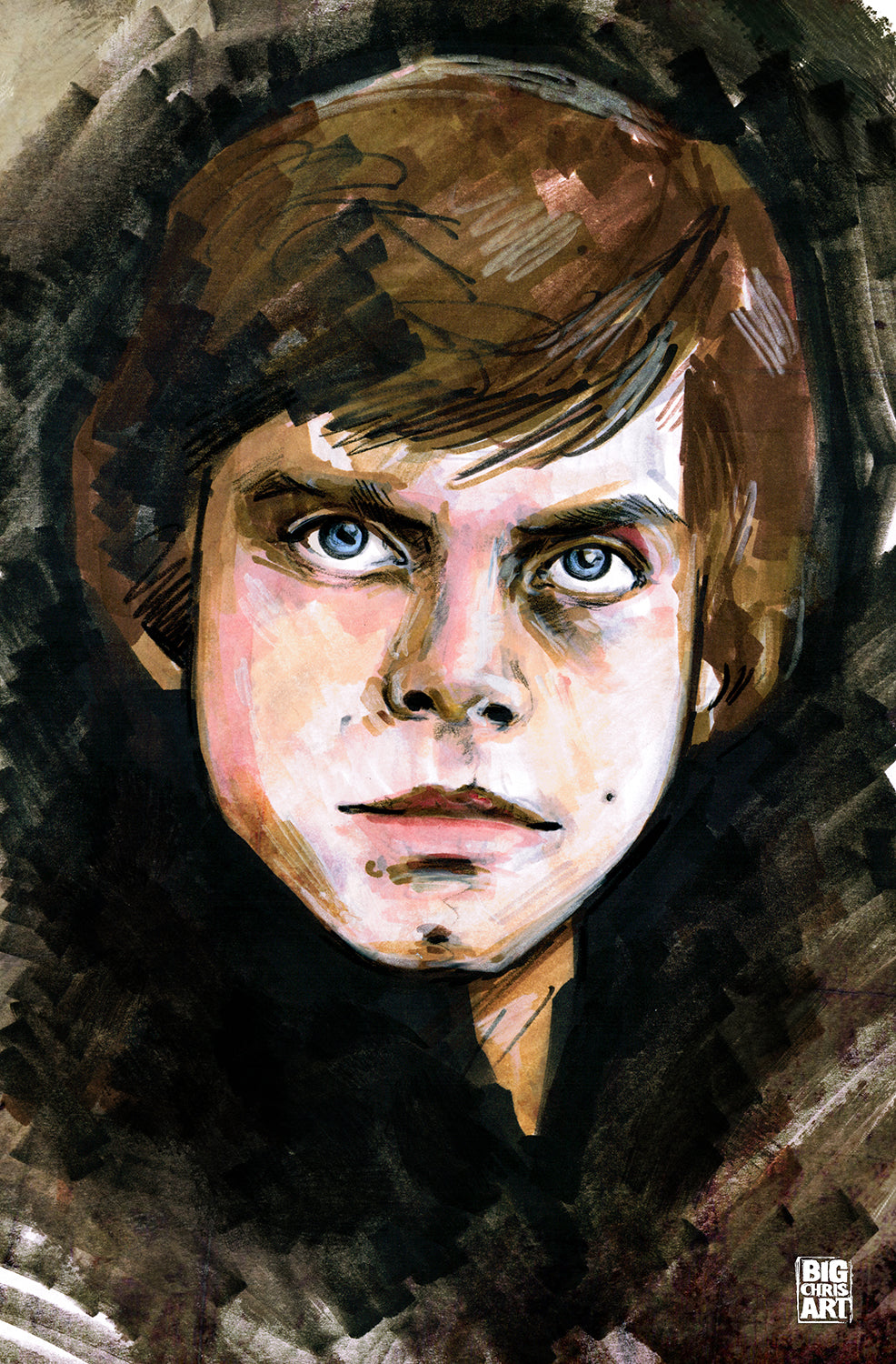 Star Wars - Luke Skywalker - 11x17 Print