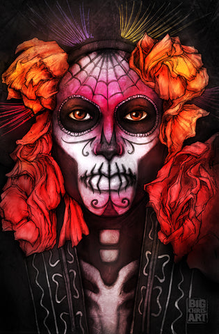 Nicole Chilelli - Day of the Dead 11x17 Print