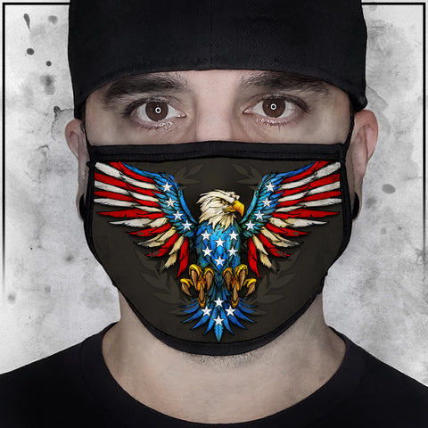 Patriot - American Eagle Flag Face Mask