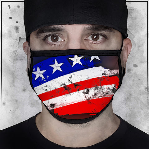Patriot - Flying American Flag Face Mask