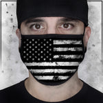 Patriot - American Flag Black and White Face Mask