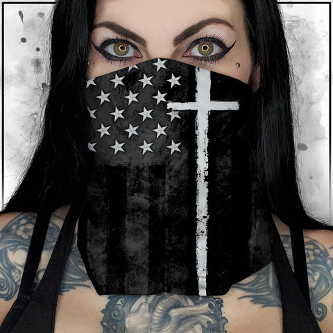 First Responders - Clergy American Flag Neck Gaiter
