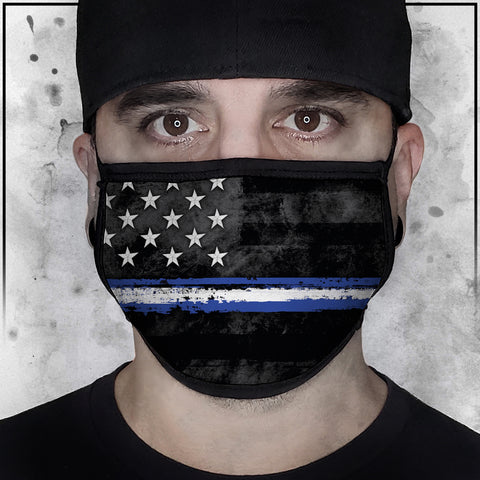 First Responders - EMS American Flag Fabric Face Cradle