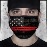 First Responders - Firefighters American Flag Face Mask