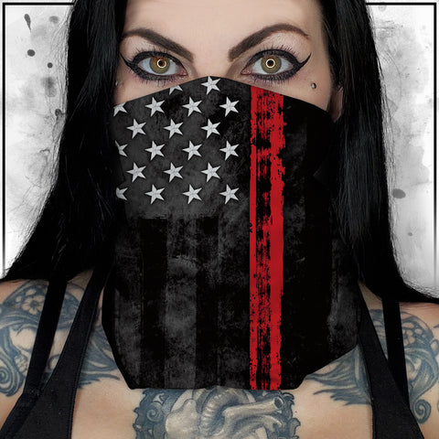 First Responders - Firefighters American Flag Neck Gaiter
