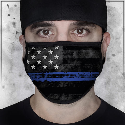 First Responders - Law Enforcement American Flag Fabric Face Cradle