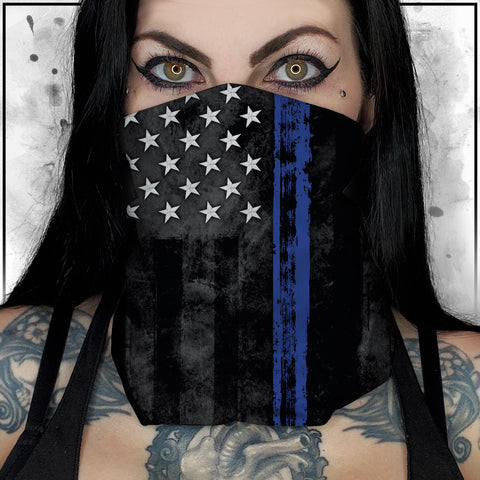 First Responders - Law Enforcement American Flag Neck Gaiter