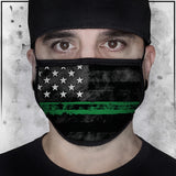 First Responders - Military American Flag Face Mask