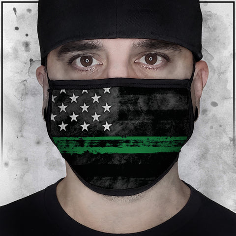 First Responders - Military American Flag Fabric Face Cradle