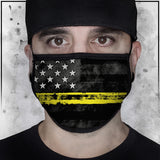 First Responders - Dispatchers American Flag Face Mask