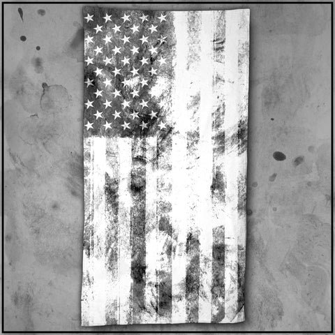 Patriot - American Flag Textured White Beach Towel