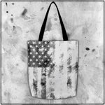 Patriot - American Flag Textured White Tote Bag