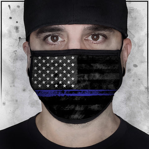 Patriot - American Flag Thin Blue Line Face Mask