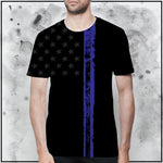 Patriot - American Flag Thin Blue Line II T-Shirt