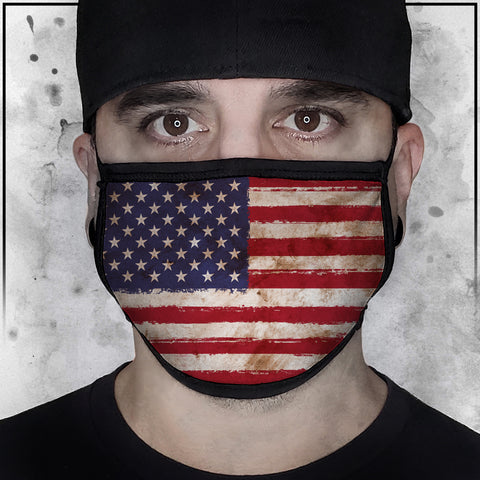 Patriot - American Flag Worn Face Mask